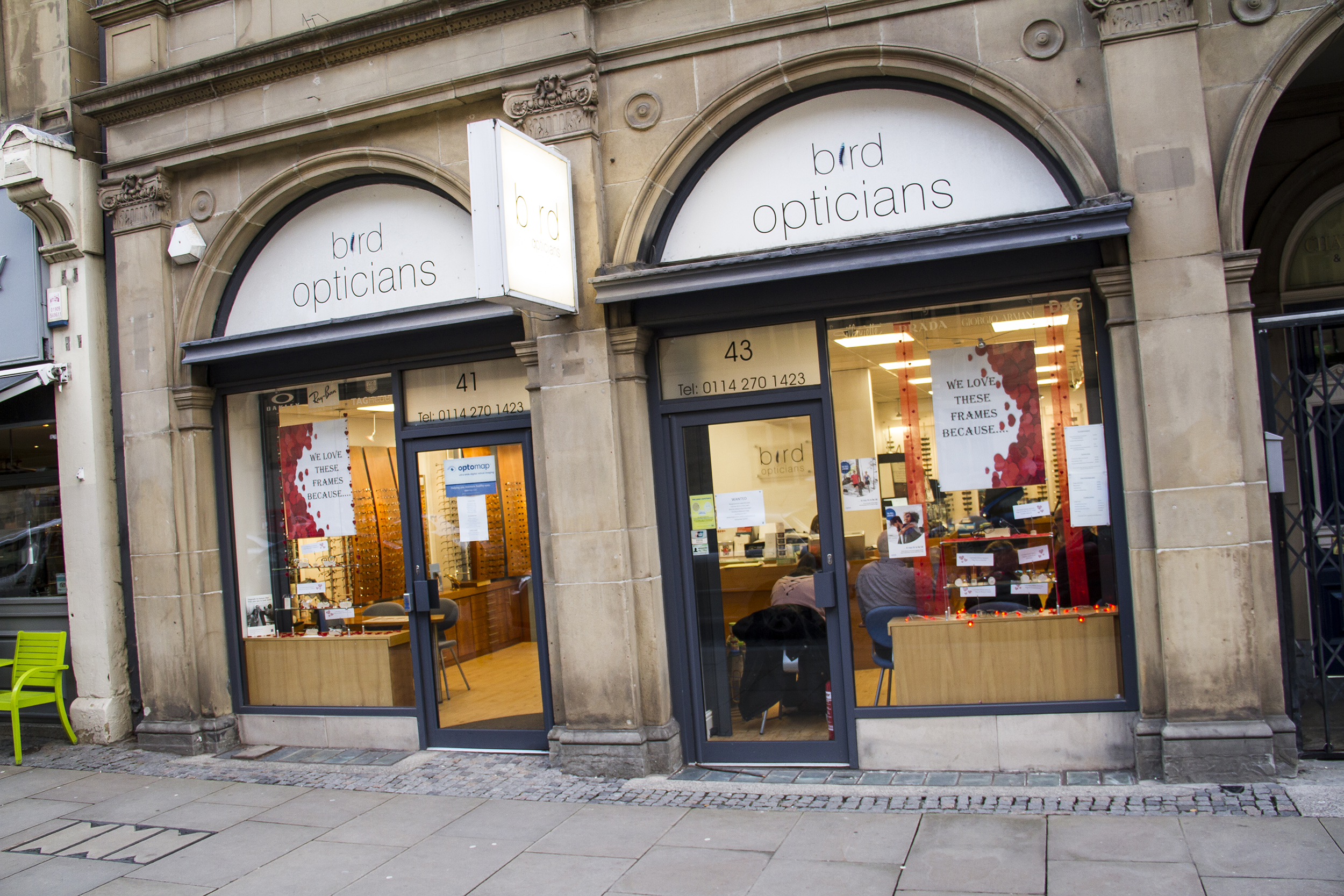 Bird Opticians Sheffield
